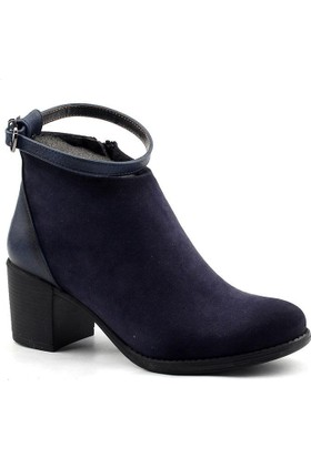 Ayakland 837 Lacivert Bayan Bot Ayakkabı