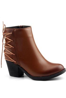 Tofima 9144 Taba Bayan Cilt Bot Ayakkabı