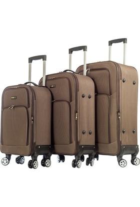 Bese Set Valiz Bs0052-Set Kahverengi