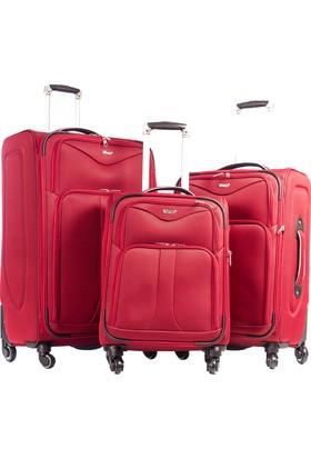 Verage Set Valiz Vrg681627-Set Kırmızı