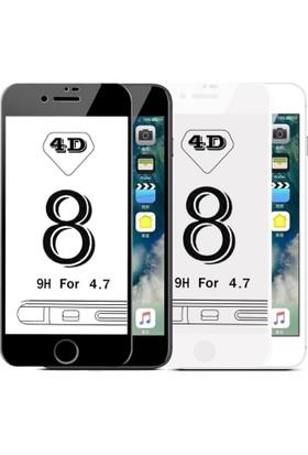 Maimi Apple iPhone 7 Plus - 7S Plus 4D Temperli Koruma Camı Beyaz