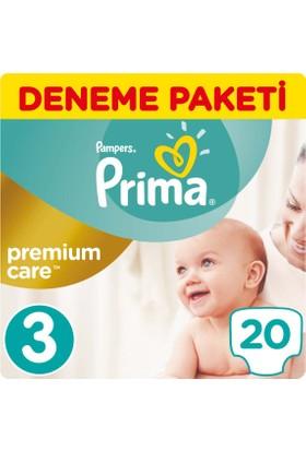 Prima Bebek Bezi Premium Care 3 Beden Midi Tekli Paket 20 Adet