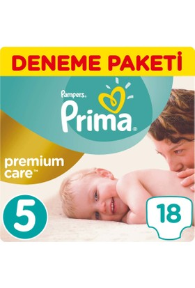 Prima Bebek Bezi Premium Care 5 Beden Junior Tekli Paket 18 Adet