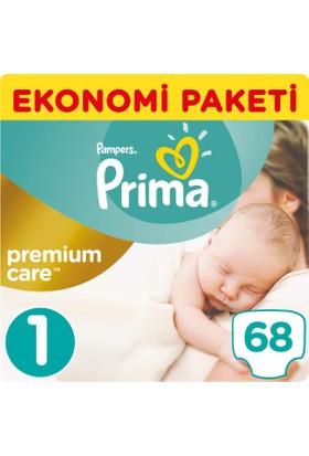 Prima Bebek Bezi Premium Care 1 Beden Yenidogan Ekonomi Paketi 68 Adet