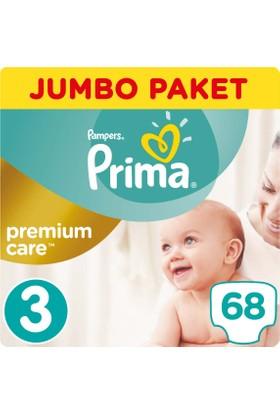 Prima Bebek Bezi Premium Care 3 Beden Midi Jumbo Paket 68 Adet