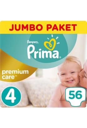 Prima Bebek Bezi Premium Care 4 Beden Maxi Jumbo Paket 56 Adet
