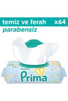 Prima Islak Havlu Temiz ve Ferah Tekli Paket (64 Yaprak)