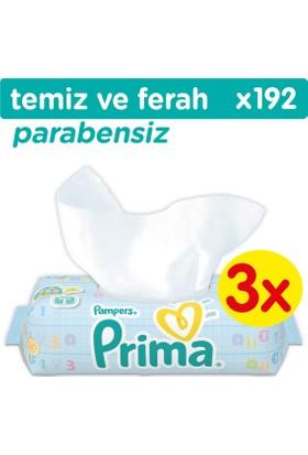 Prima Islak Havlu Temiz ve Ferah 3'lü Fırsat Paketi (192 Yaprak)