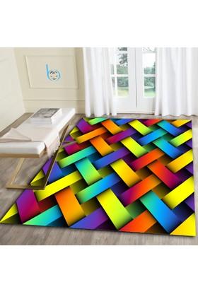 Bebişim Colorful Dekoratif Desenli Halı