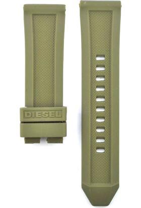 Ztd Strap Uyumlu Diesel Ironside Dz4391 24Mm Yeşil Silikon Saat Kordonu 249Dsl