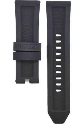 Ztd Strap Uyumlu Diesel Rasp Dz1807 24Mm Siyah Silikon Saat Kordonu 247Dsl