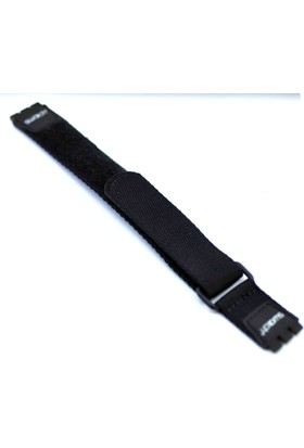 Ztd Strap Swatch Uyumlu 17Mm Siyah Yapışkanlı Tekstil Saat Kordonu Swc252