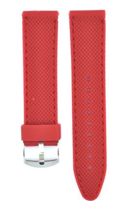 Ztd Strap 22Mm Kırmızı Silikon Saat Kordonu Svg247