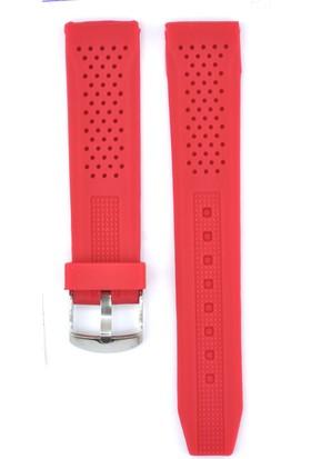 Ztd Strap 20Mm Kırmızı Silikon Saat Kordonu Svg226