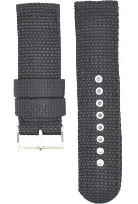 Ztd Strap 24Mm Siyah Tekstil Kumaş Saat Kordonu Bms259