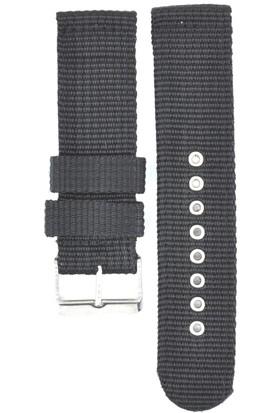 Ztd Strap 22Mm Siyah Tekstil Kumaş Saat Kordonu Bms258