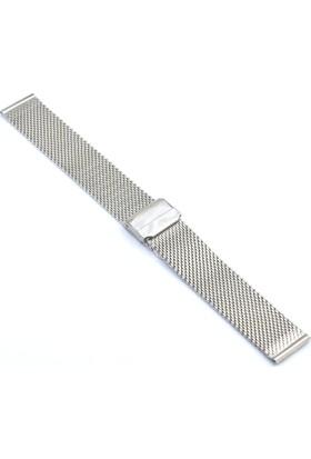 Ztd Strap 20Mm Gümüş Çelik Saat Kordonu Bms110
