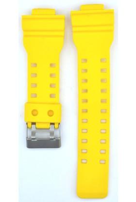 Ztd Strap Uyumlu Casio G Shock Ga110 29Mm Sarı Silikon Saat Kordonu Cas114