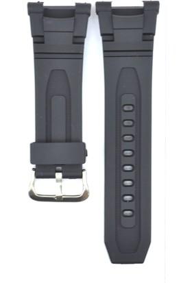 Ztd Strap Uyumlu Casio Pro Trek Prg-240 28Mm Siyah Silikon Saat Kordonu Cas110