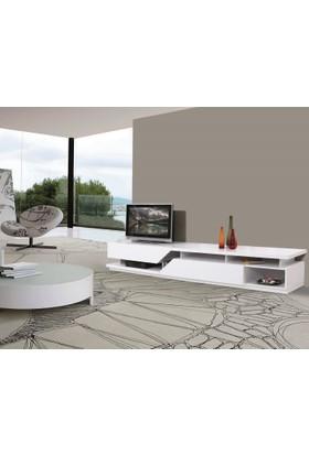Calitelli Image Tv Sehpası - Parlak Beyaz