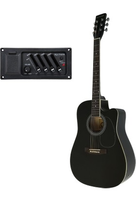 Almira F650N-Bkc Siyah Elektro Akustik Gitar