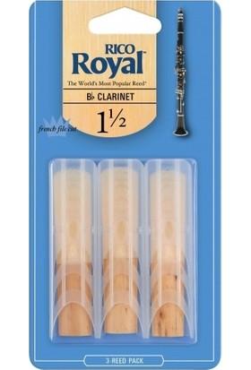Rico Royal Sib Klarnet 3Lü Kamışı No.1,5