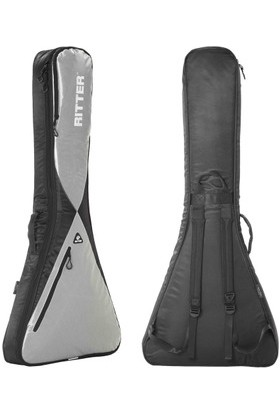 Ritter RGP5-V-BSG Elektro Gitar Kılıfı Flying V Black-Silver Grey