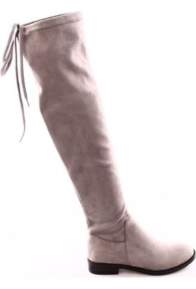Chocolate 1001 Kadın Thigh High Stretch Çizme Prms-A59