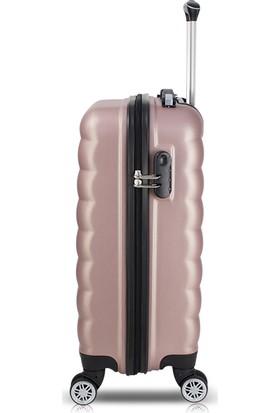 My Valice Smart Bag Colors Usb Şarj Girişli Kabin Boy Valiz Rose