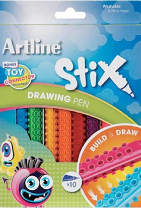 Artline Boya Kalemi Stix Brush Markör 12'li Etx-F 12W