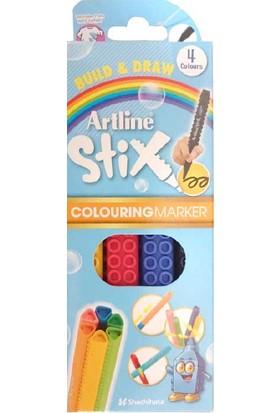 Artline Boya Kalemi Stıx Brush Mar.4 Lü Etx-F 4W