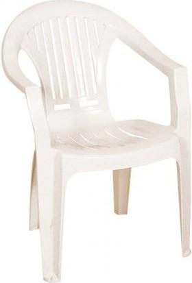 Plastico 2'li Ece Çubuklu Plastik Sandalye