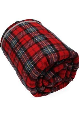 Yuyu Med Kırmızı Ekose Kucaklama Battaniyesi