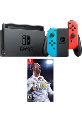 Nintendo Switch Renkli + Fifa 18 Switch Oyun