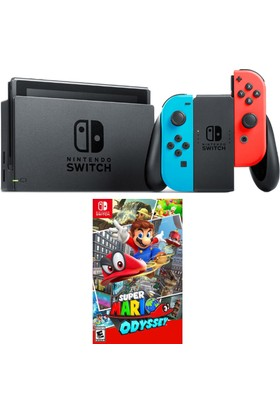 Nintendo Switch Renkli + Mario Switch Oyun