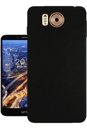 Case 4U Vestel Venüs V3 5580 Premier Silikon Kılıf + Ekran Koruyucu Siyah