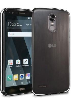 Case 4U Lg Stylus 3 Kılıf Ultra İnce Silikon Füme / Siyah