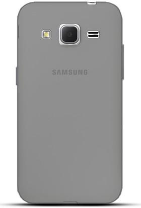 Case 4U Samsung Galaxy Grand Prime Plus Kılıf G532F Kılıf Ultra İnce Silikon Füme / Siyah
