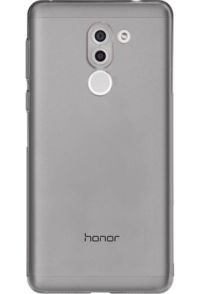 Case 4U Huawei Gr5 2017 Kılıf Ultra İnce Silikon Füme / Siyah