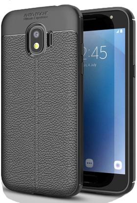 Case 4U Samsung Galaxy J2 Pro J250F Kılıf Darbeye Dayanıklı Niss Siyah