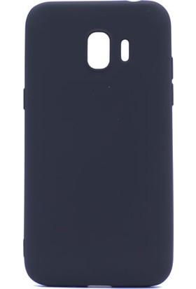 Case 4U Samsung Galaxy J2 Pro J250F Kılıf Ultra İnce Mat Silikon Siyah