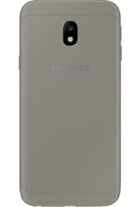 Case 4U Samsung Galaxy J3 Pro 2017 J330 Kılıf Ultra İnce Silikon Füme / Siyah