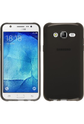 Case 4U Samsung Galaxy J7 Core J701F Kılıf Ultra İnce Silikon Füme / Siyah