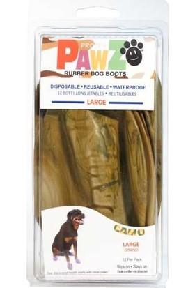 Pawz Camo Köpek Galoşu Large