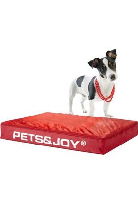 Petsjoy Kedi Yatağı Medium Kırmızı 60X80 Cm