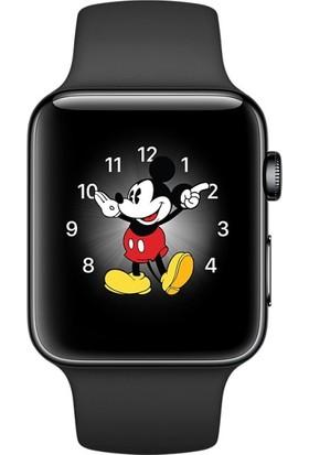 Apple Watch Seri 2 38mm Uzay Grisi Paslanmaz Çelik Kasalı Siyah Spor Kordon - MP492TU/A