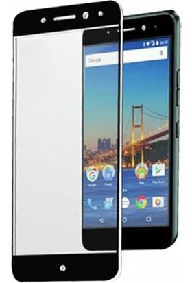 Eiroo General Mobile GM 5 Plus Curve Tempered Glass Premium Full Siyah Cam Ekran Koruyucu
