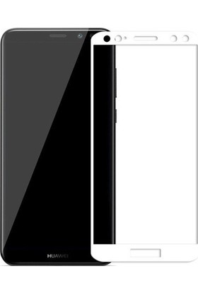 Eiroo Huawei Mate 10 Lite Curve Tempered Glass Full Beyaz Cam Ekran Koruyucu