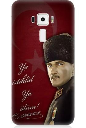 Teknomeg Asus Zenfone 3 ZE552KL Atatürk Ya İstiklal Ya Ölüm Desenli Silikon Kılıf