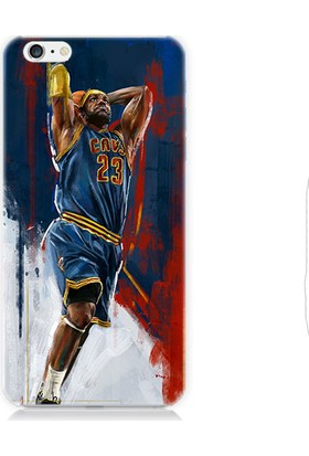 Teknomeg Apple iPhone 6S Nba LeBron James Desenli Silikon Kılıf